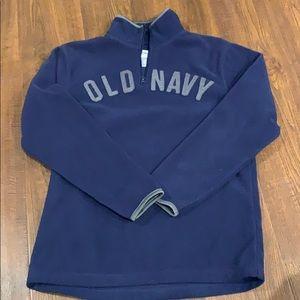 Old navy fleece three-quarter zip mock sweatshirt
